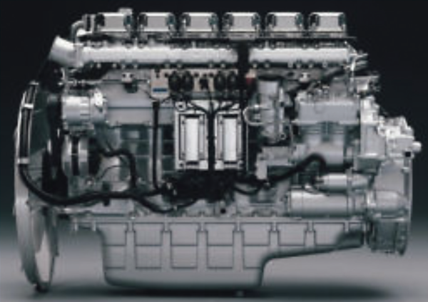 Figure 1, a modern diesel engine controlled by an electronic control unit (ECU) placed on the engine block. The ECU is connected to a number of sensors and actuators on the engine through cable harnesses.